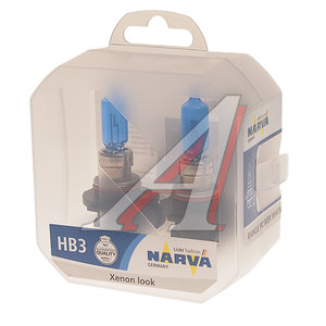 Лампа 12V HB3 60W P20d 4500K бокс (2шт.) Range Power White NARVA 48625S2, N-48625RPW2