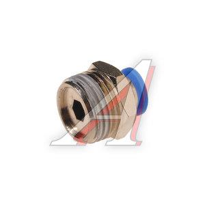 """Фитинг для пластиковых трубок 1/2"""" 8мм с наружной резьбой ROCK FORCE RF-SPC08-04"""