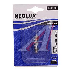 Лампа 12VхC5W (SV8.5/8) 36мм LED 6700K (блистер) NEOLUX N3667, NL-3667