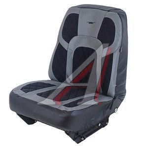 Авточехлы универсальные экокожа/велюр (L) серый Drift PSV 122390, 122390 PSV