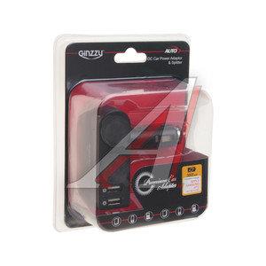 Разветвитель прикуривателя 2-х гнездовой 12V + 2 USB GINZZU GINZZU GA-4515UB