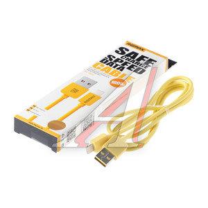 Кабель iPhone (5-) 1м желтый REMAX REMAX RM-000105,