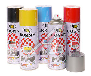 Краска белая матовая акриловая аэрозоль 400мл Spray Paint BOSNY BOSNY 1007, PR-1007