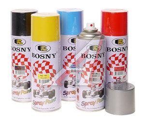 Краска белая матовая акриловая аэрозоль 400мл Spray Paint BOSNY BOSNY 1007, PR-1007,