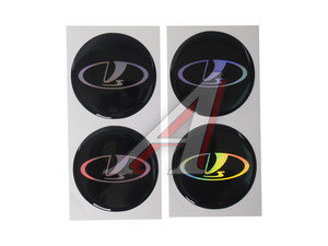 """Эмблема на крышку ступицы диска """"LADA"""" (6см) комплект 4шт. 02144"""