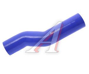 Патрубок МАЗ радиатора отводящий нижний (L=420мм,d=70мм) синий силикон 6501А5-1303260