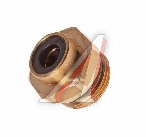 Соединитель трубки ПВХ,полиамид d=8мм (наружная резьба) М22х1.5 прямой латунь CAMOZZI 9512 8-M22X1.5