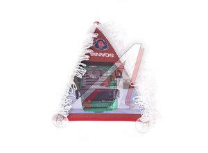 Вымпел SCANIA с бахромой треугольник (25х25см) на 2-х присосках ХАН