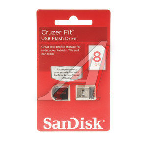 Карта памяти USB 8GB SANDISK Z33 Cruzer Fit SANDISK 8GB Z33, SDCZ33-008G-B35