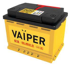 Аккумулятор VAIPER 62А/ч обратная полярность 6СТ62, 84480