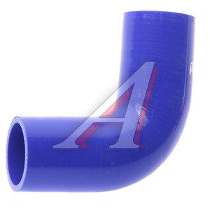 Патрубок НЕФАЗ радиатора отводящий нижний синий силикон (L=115х115мм,d=48) 52974-1303010-01, 52974-1303010
