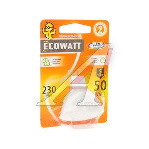 Лампа светодиодная GU5.3 JCDR 5W(50W) 3000K 230V теплый белый свет ECOWATT 4606400021575