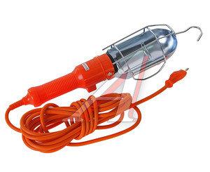 Лампа переносная 220V E27 провод 5м оранжевая LUX ПР-60-05, 4606400027003