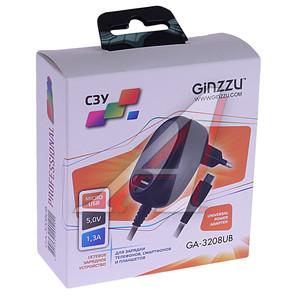 Устройство зарядное GA-3208UB USB + microUSB GINZZU GINZZU GA-3208UB,