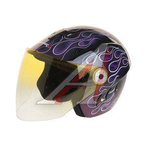 Шлем мото (открытый) MICHIRU Flamelet Red MO 110 M, 4680329007988