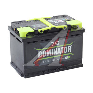 Аккумулятор DOMINATOR 75А/ч 6СТ75з, 83039