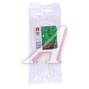 Хомут-стяжка 200х4.0 пластик белый (100шт.) FORTISFLEX 1004200, 49397