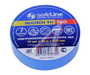 Изолента ПВХ синяя 19ммх25м SAFELINE 9374, SAFELINE 19/25
