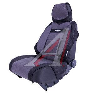 Авточехлы (майка) (боковая поддержка спины) черно-серые (9 предм.) Comfort AUTOPROFI COM-905T BK/D.GY