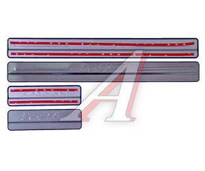 Накладка порога FORD Focus (12-13) хром комплект PRO SPORT RS-09386