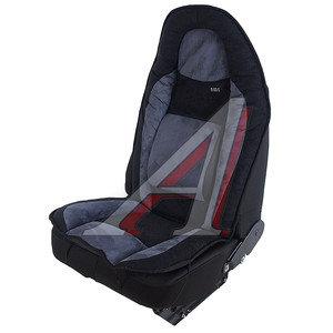 Авточехлы (майка) на передние сиденья ортопедические алькантара серо-черные (1 предм.) Comfort H&R 21177 H&R,