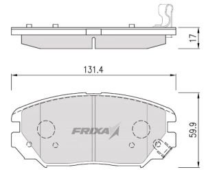 Колодки тормозные HYUNDAI Sonata NF,Tucson (08-) KIA Magentis New передние (4шт.) HANKOOK FRIXA FPH17, 58101-3KA20