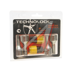 Болт колеса М12х1.25х30.5 секретки конус комплект 4шт. 2 головки под ключ 17/19мм TECHNOLOCK TECHNOLOCK E1, E1