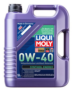 Масло моторное SYNTHOIL ENERGYсинт.5л LIQUI MOLY LM SAE0W40 1923, 84178