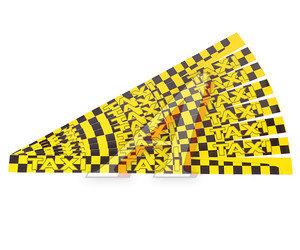 """Наклейка-знак виниловая """"Taxi"""" 6х100см желто-черная комплект (8шт.) AUTOSTICKERS 02873"""