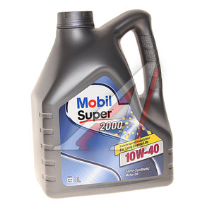 Масло моторное SUPER 2000 X1 п/синт.4л MOBIL MOBIL SAE10W40, 01_0060
