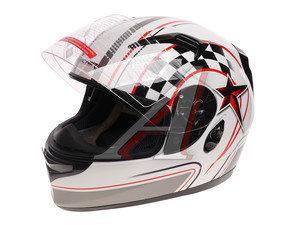 Шлем мото (интеграл) MICHIRU (с солнцезащитным стеклом) белый MI 162 S, 4627072925190