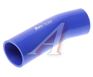 Патрубок КАМАЗ-5320 радиатора подводящий верхний гнутый синий силикон (L=191мм,d=56) 5320-1303010