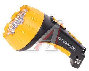 Фонарь аккумуляторный 15 светодиодов, SLA(пластик) черно-желтый, 2 режима 220V в блистере ULTRAFLASH C-3819/3815, C-3815