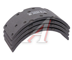 Накладка тормозной колодки HYUNDAI HD78 (шир.110мм,14 отверстий) (4шт.) HSB HL0799, 58344-5K500