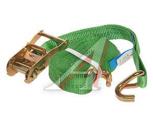 Стяжка крепления груза 2т 6м-35мм (полиэстр) с храповиком KRAFT 0099, 35.10.1.0.6000