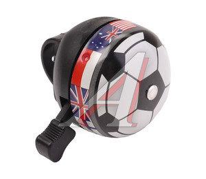 Звонок велосипедный JH-801-2 футбольный мяч 210006