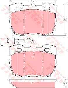 Колодки тормозные LAND ROVER Defender, Discovery (-98) передние (4шт.) TRW GDB1093, STC9191/STC9190/STC8572/STC8571/RTC6781