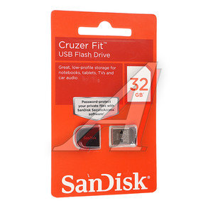Карта памяти USB 32GB Z33 Cruzer Fit SANDISK SANDISK 32GB Z33, SDCZ33-032G-B35