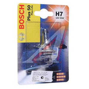 Лампа H7 55W PX26d 12V +60% блистер BOSCH 1987301066(1987301048)