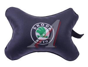 Подушка на подголовник SKODA экокожа М18, 2000055786889