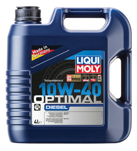 Масло дизельное OPTIMAL DIEZEL п/синт.4л LIQUI MOLY LM SAE10W40 3934/акция2288, 84160