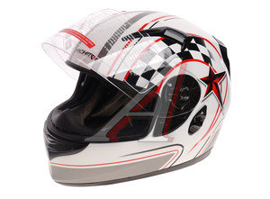 Шлем мото (интеграл) MICHIRU (с солнцезащитным стеклом) черный MI 162 L, 4627072925268