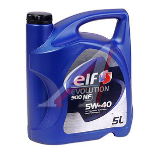 Масло моторное EVOLUTION 900 NF синт.5л ELF ELF SAE5W40 NF, 196147