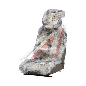Накидка на сиденье мех натуральный (австралийская овчина) бело-серая 1шт. Jolly Extra PSV 121859, 121859 PSV