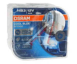 Лампа 12V HB3 60W +20% P20d 4200K бокс (2шт.) Cool Blue Intense OSRAM 9005CBI-DUOBOX, O-9005CBI2(EURO)