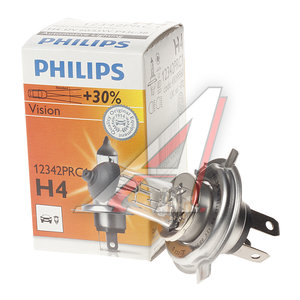 Лампа 12V H4 60/55W +30% P43t Premium PHILIPS 12342PRC1, P-12342PR, АКГ12-60+55(Н4)