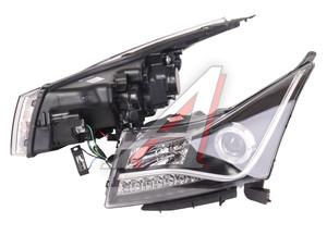 Фара CHEVROLET Cruze (09-) стиль AUDI R8 светодиодный повторитель,черный комплект PRO SPORT RS-08147