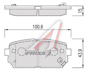 Колодки тормозные KIA Carens (06-) задние (4шт.) HANKOOK FRIXA FPK25R, 58302-1DA00