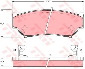 Колодки тормозные SUZUKI Grand Vitara передние (4шт.) TRW GDB1174, 55200-84A00