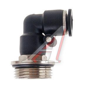 Соединитель трубки ПВХ,полиамид d=8мм (наружная резьба) М22х1.5 угольник PL M22х1.5 d=8, АТ-0756